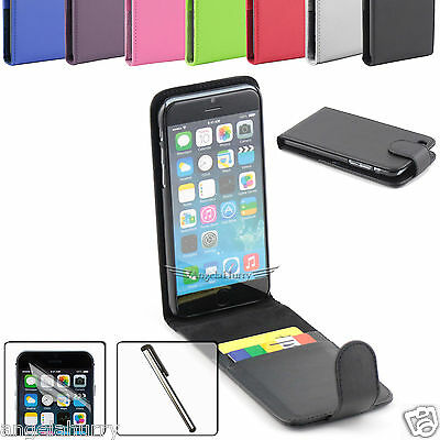 For Apple iPhone 6 Plus /5 S /4S Case Flip Leather Case +Stylus+Screen Protector