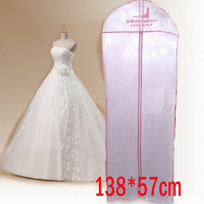 "Best 54"" Breathable Wedding Prom Dress Gown Garment Clothe Cover Storage Bag Zip"