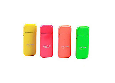 Colorful Dolphin Brand Normal Flame Butane Gas Refill Cigare Cigarettes Lighter