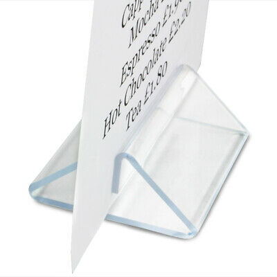 Perspex Tent Type Menu Holder | Table Top Display for A4 and A5 Menu Cards