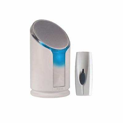 Byron 100M Loud Portable Door Bell Chime + Flashing Strobe Light - 8 Melodies