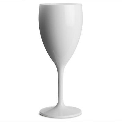 Polycarbonate Wine Glasses White 12oz / 340ml x24| Virtually Unbreakable Plastic