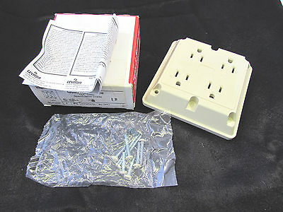 LOT OF 2 NEW $15 PASS /& SEYMOUR 415-GRY QUAD RECEPTACLE 15A 125V