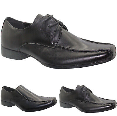 New Mens Slip On Shoes Wedding Formal Party Dress Office Boys School Work Casual
