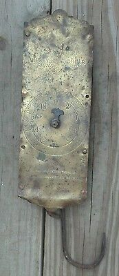 Spring Balance Hanging Scale Vintage Antique C. Forschners Brass Face 60 lbs.
