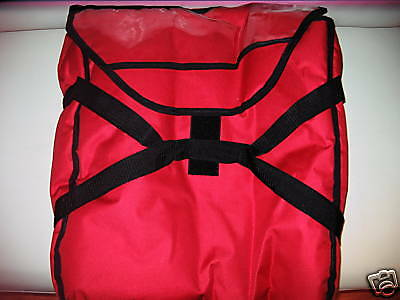 Durable Large Red Pizza Bag