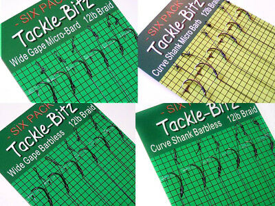18 Fishing Tackle Carp hair rigs Choice of Hook size swivels lead weights clips