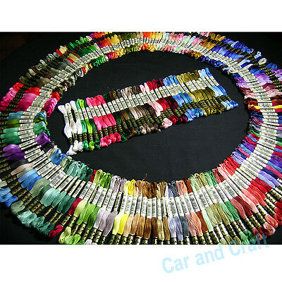 100 Skeins France DMC Stranded Floss Thread Cross Stitch Pick Your Own Colour