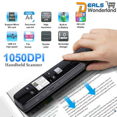 iSCAN 1050DPI Wireless WIFI Portable Handheld Scanner A4 Book Photo Handyscan