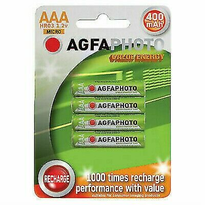 4 x AAA GP cordless Phone batteries 400mah 44.5mm Long