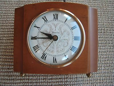 Vintage Wooden Westclox Electric Alarm Clock - Made in USA