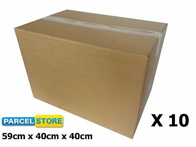10 x EXTRA LARGE STORAGE HOUSE MOVING STRONG CARDBOARD REMOVAL BOXES (DRUM)
