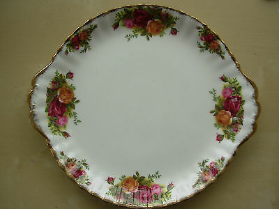 ROYAL ALBERT OLD COUNTRY ROSES BONE CHINA 10in SANDWICH PLATE