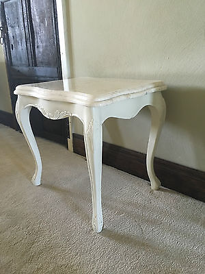 Shabby Chic  Statement Cream Marble French White Ivory Bedside Lamp Side Table