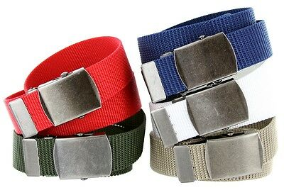 "Premium Military Cotton Canvas Web Belt, 1-1/2"" Wide"