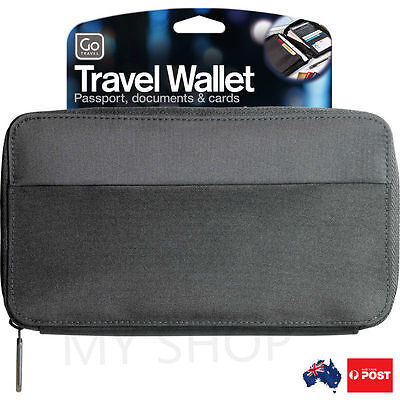 Go Travel Wallet Passport Document Holder Organiser--Zippered, Lightweight