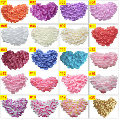 100 to 2000 Silk Rose Petals Wedding Party Flower Favors Decor