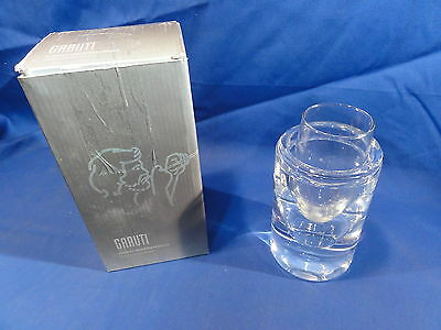"Glacier Glass Champagne Flute Cup W/ Glass Cooler 5"" For Vitro Garuti"