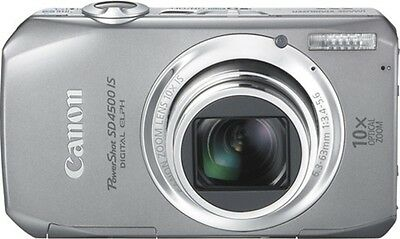 New Canon PowerShot SD4500 IS 10 MP Digital ELPH Camera 10x Zoom Full HD Silver