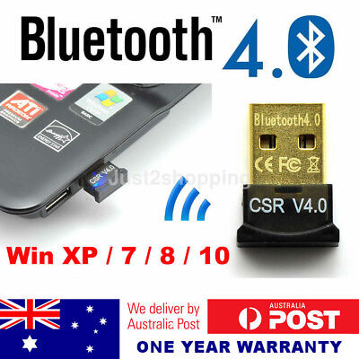 USB 2.0 Bluetooth V4.0 Dongle A2DP EDR Wireless Adapter Mac PC Laptop Win7 8 10
