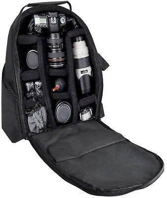 Deluxe Camera Photo/Video Padded Backpack For Canon EOS Rebel T3 T3i T4i T5i T2i