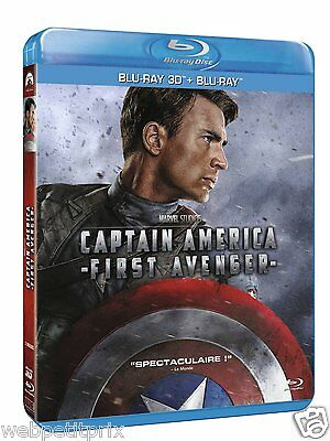 Captain America : The First Avenger  Combo Blu-ray + Blu-ray 3D ACTIVE VF Neuf