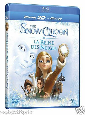 The Snow Queen, La Reine des Neiges  Blu-ray 3D ACTIVE + Blu-ray VF Neuf