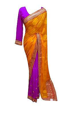 Indian Half and Half sarees wedding designer bollywood Party wear sari  UK7097