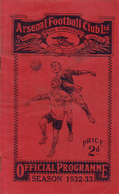 Arsenal v. Chelsea 10/12/1932 Opening of West Stand + Replica insert