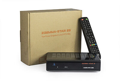 Genuine Zgemma Star 2S Twin Tuner DVB-S2 Satellite Receiver Linux Enigma 2 IPTV