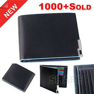 OZ Genuine Leather Wallet Purse Bifold Stylish Short Slim Mens Card Holder