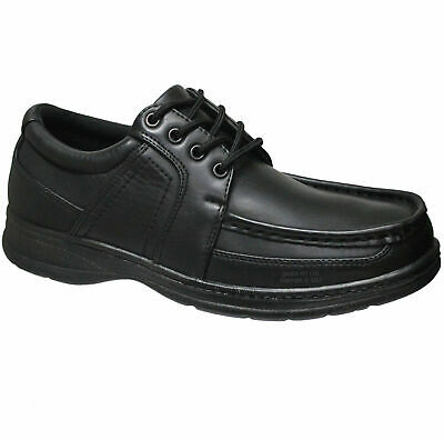 Mens Comfort Xtra Black Wedding Shoes Formal Dress Office Casual Work Shoes Size