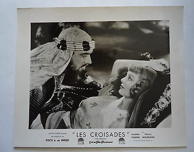 CECIL B.DE MILLE/THE CRUSADES/french lobby