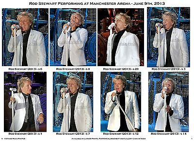 Rod Stewart Photos 4x6 inch Set of 40 Prints June 2013 Live UK Concert Tour  s3