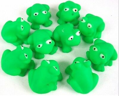 10pcs Frogs Baby Kids Bath Tub Bathing Rubber Squeaky Floating  Toys Lovely