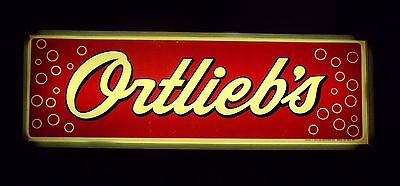 Ortlieb's lighted sign RARE