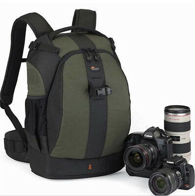 Green Lowepro Flipside 400 AW DSLR Camera Photo Bag Backpack & Weather Cover