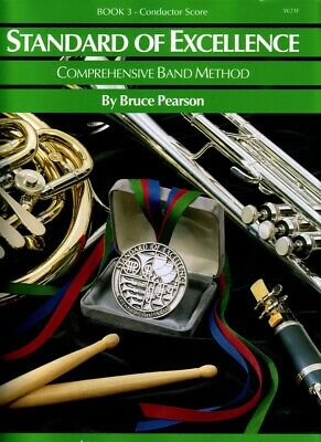 Standard of Excellence Book 3 Conductor Score W23F Bruce Pearson NEW