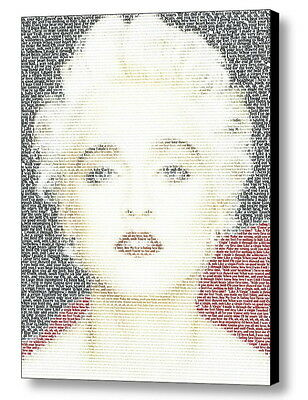 Madonna Like A Virgin Lyrics Incredible Mosaic Framed Print Limited Edition COA