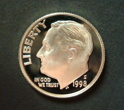 """2000-S SILVER PROOF GEM ROOSEVELT DIME DEEP CAMEO /""""SAVE WITH COMBINED SHIPPING/"""""""