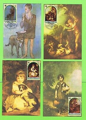 Sao Tome & Principe 1981 set of seven Year of the Child FDI Stamp Cards