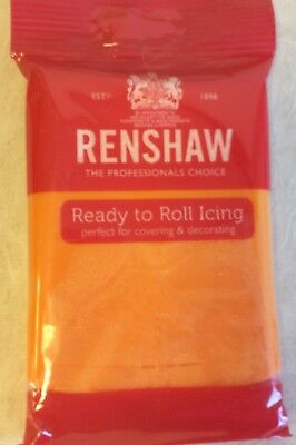 Renshaw 250g TIGER ORANGE Decorice / Regalice / Sugarpaste /ready to roll icing