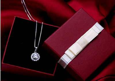 Present Gift Red Jewelry Black Velvet Necklace/Earring/Ring Paper Box Wholesale