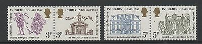GB 1973 400th Birth anniversary of Inigo Jones unmounted mint set stamps