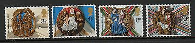 GB 1974 Christmas unmounted mint set stamps