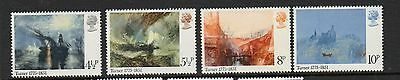 GB 1975 J.M.W. Turner Bicentenary unmounted mint set stamps