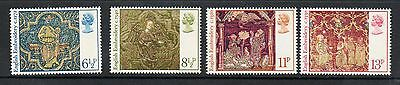 GB 1976 Christmas unmounted mint set stamps