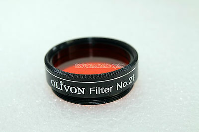 "Olivon 1.25"" Orange #21 telescope eyepiece filter with case. Official UK seller"