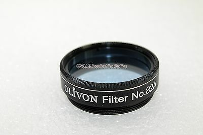 "Olivon 1.25"" #82a Light Blue telescope eyepiece filter with foam lined case"
