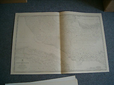 Vintage Admiralty Chart 2009 GREAT BAHAMA BANK 1932 edition